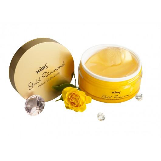 Гидрогелевые золотые патчи Kims Gold Diamond Hydro-Gel Eye Patch