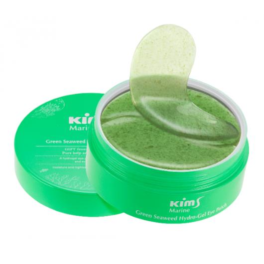 Гидрогелевые патчи с водорослями Kims Marine Green Seaweed Hydro-Gel Eye Patch (60 шт. в баночке, размер S)