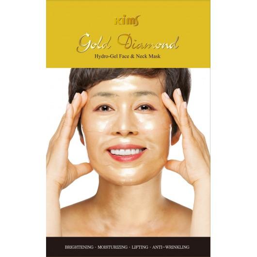 Золотая маска для лица Kims Gold Diamond Hydro-Gel Face Mask