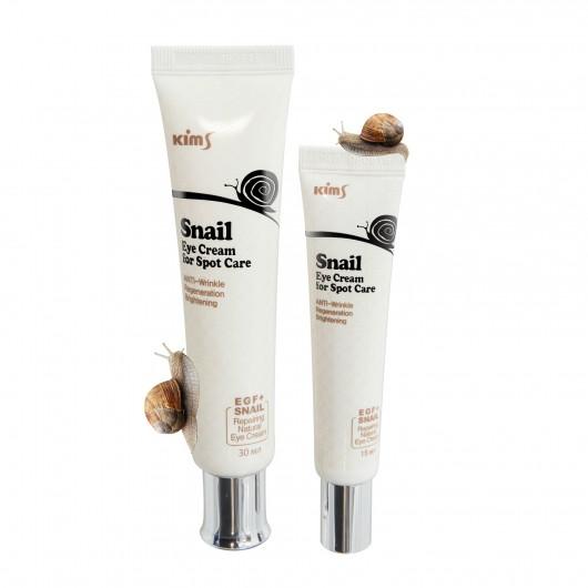 Улиточный крем для глаз Kims Snail Eye Cream for Spot Care, 15 мл